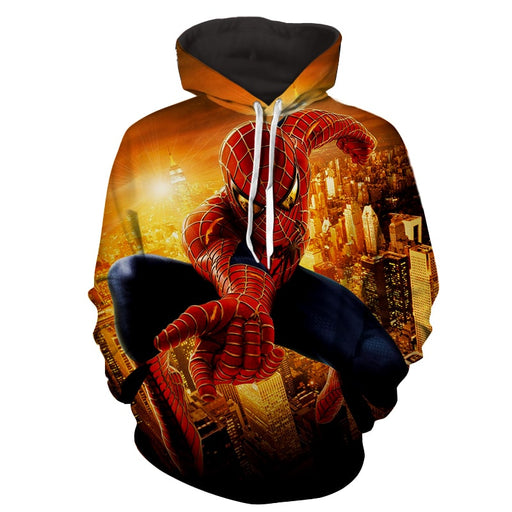 Spiderman Web Shooter Cityscape Daylight 3D Print Hoodie