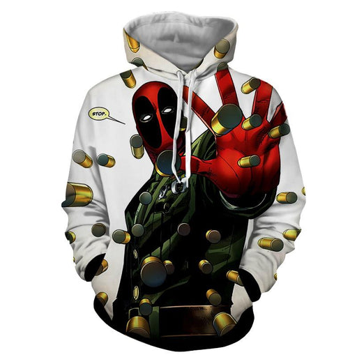 Deadpool Stopping Bullets Dope Design Full Print Hoodie - Superheroes Gears