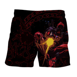 Antihero Deadpool Shooting With Gun Cool Style Print Short