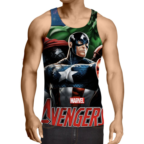 Marvel The Avengers Captain America Dope 3D Print Tank Top