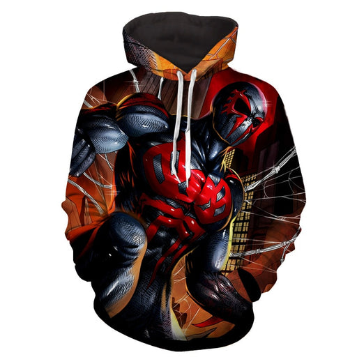 Spiderman 2099 Amazing Muscle Portrait Full Print Hoodie
