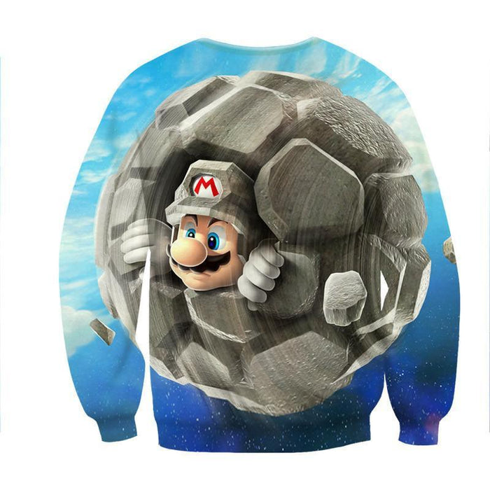 Super Mario Rock Mushroom Upgrade Cool Gaming Sweatshirt