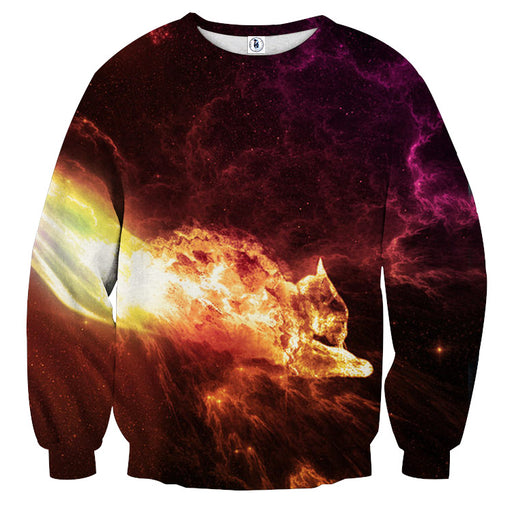 Fusion Galaxy Lightning Power Vibrant Design Cool Sweater