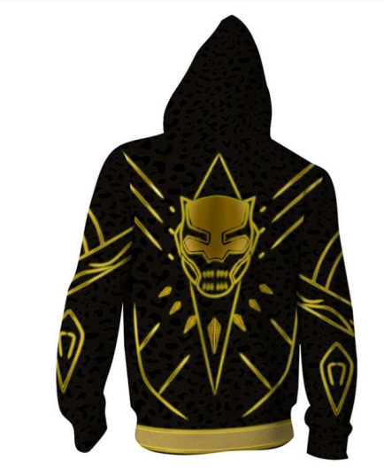 Marvel Black Panther N'Jadaka Erik Killmonger Cosplay Hoodie