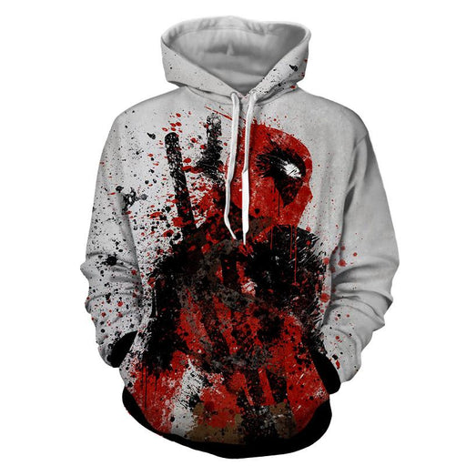 Deadpool Impressive Abstract Painting Design 3D Print Hoodie - Superheroes Gears