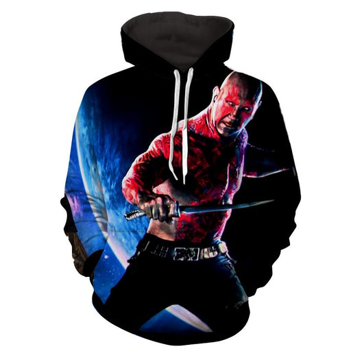 Guardians of the Galaxy Drax Powerful Warrior Dope 3D Hoodie - Superheroes Gears