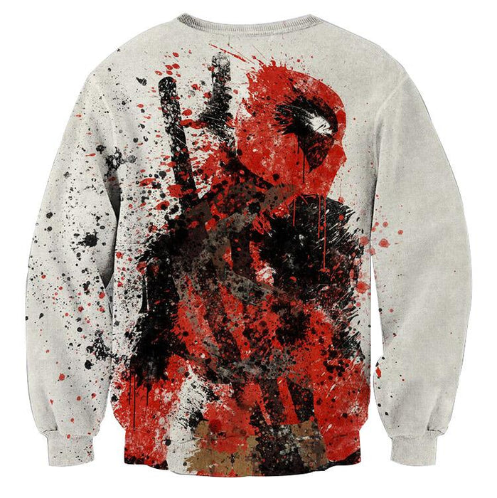 Deadpool Impressive Abstract Painting Design 3D Print Sweatshirt - Superheroes Gears