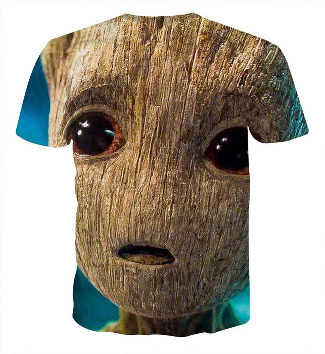 Guardians of the Galaxy Emotional Cute Baby Groot 3D Print T-shirt - Superheroes Gears