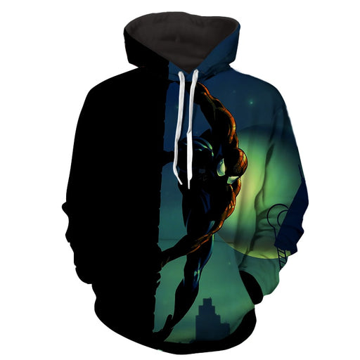 Spiderman Nightime Moon 3D Print Hoodie