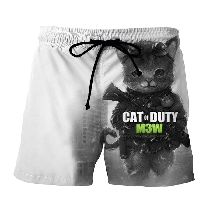 Call of Duty Cat Parody Version Cute Fan Art Shorts - Superheroes Gears