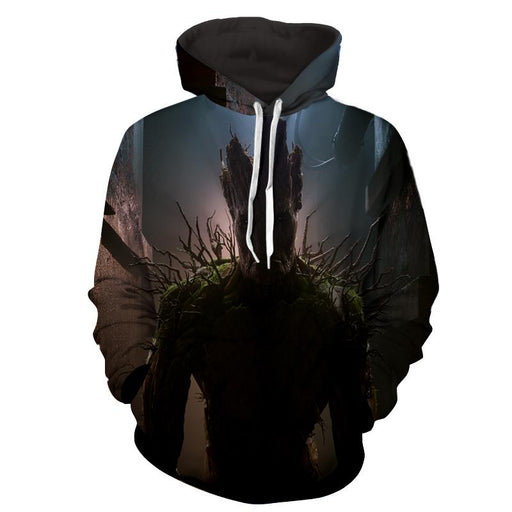 Guardians of the Galaxy Powerful Groot Stunning Design 3D Hoodie - Superheroes Gears