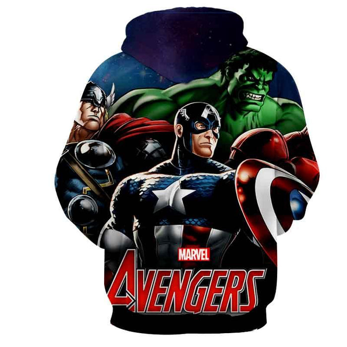 Marvel The Avengers Captain America Dope 3D Print Hoodie