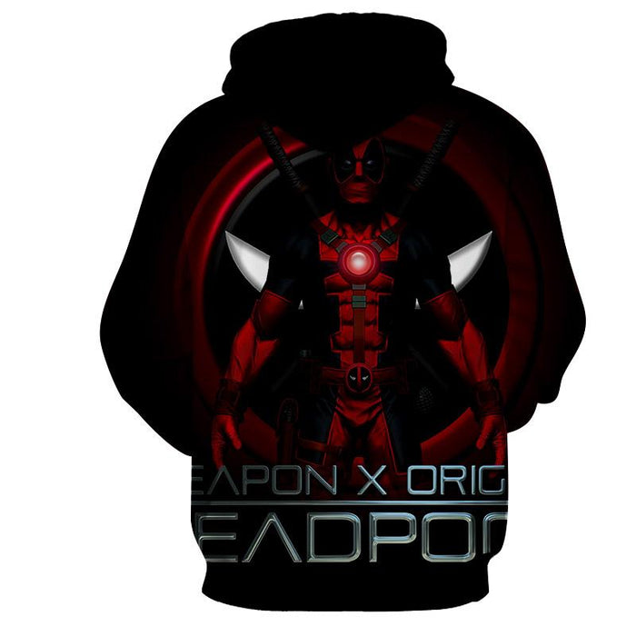 Deadpool Weapon X Origins Symbol Fashionable Full Print Hoodie - Superheroes Gears