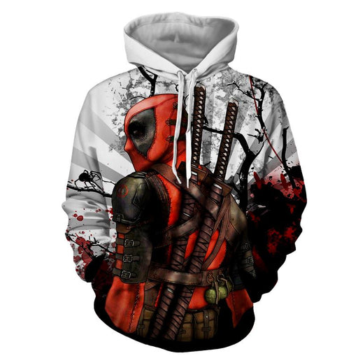 Deadpool The Back Portrait Amazing Fan Art Full Print Hoodie - Superheroes Gears
