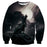 Lonely Wolf Metal Style Dark Design Fantastic Sweatshirt