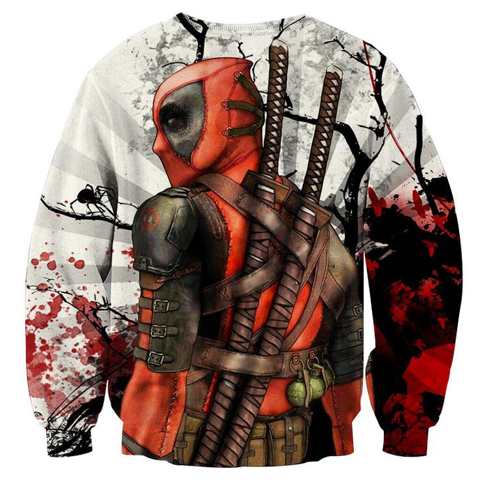 Deadpool The Back Portrait Amazing Fan Art Full Print Sweatshirt - Superheroes Gears