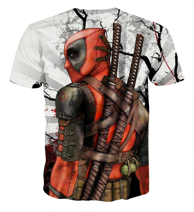 Deadpool The Back Portrait Amazing Fan Art Full Print T-shirt - Superheroes Gears
