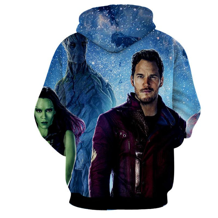 Guardians of the Galaxy Team Portrait Vibrant Design Hoodie - Superheroes Gears