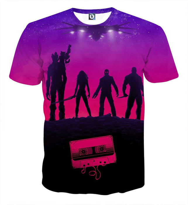 Guardians of the Galaxy Team Portrait Vibrant 3D Full Print T-shirt - Superheroes Gears