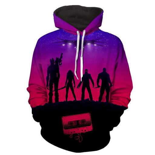 Guardians of the Galaxy Team Portrait Vibrant 3D Full Print Hoodie - Superheroes Gears