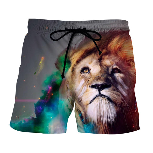 Lion King  Sadness Eye Looking In Galaxy Art Design Shorts