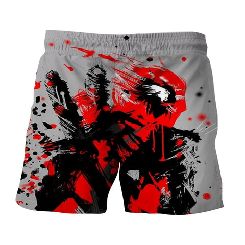 Deadpool Abstract Painting Design Stylish Winter Short