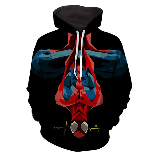 Spiderman Hanging Upside Down Dope Style 3D Print Hoodie