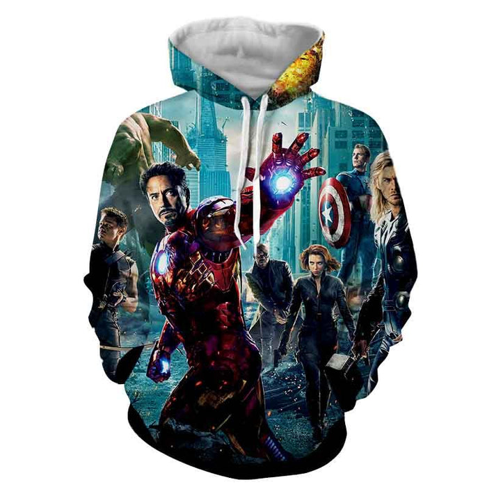 The Avengers Iron Man Black Widow Nick Fury Swag 3D Hoodie