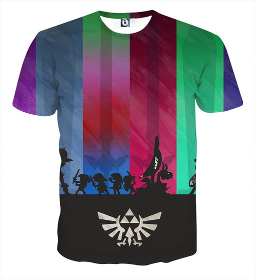 The Legend Of Zelda Cool Shadow Of The Characters T-shirt