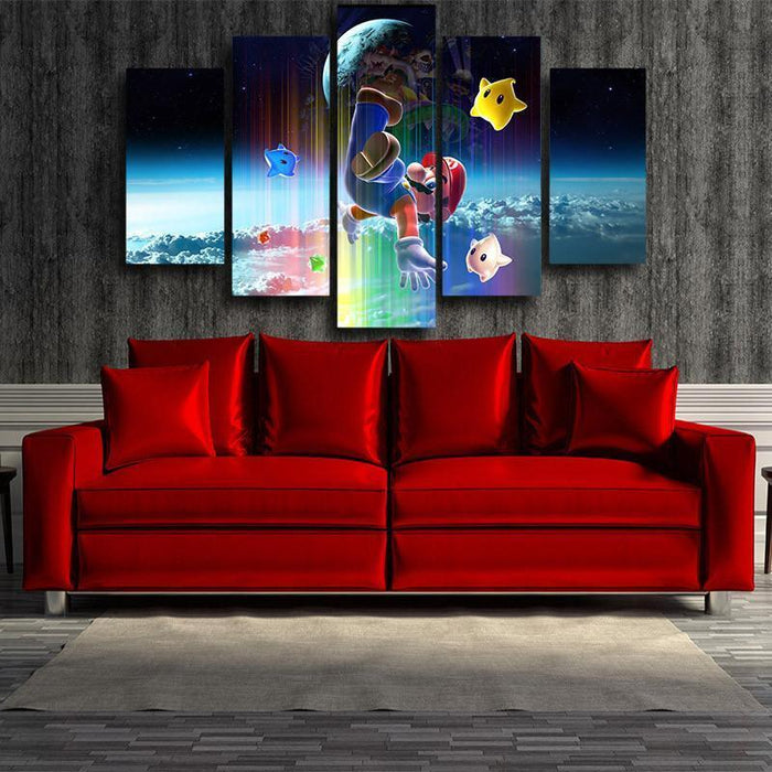 Super Mario Browser 5pc Wall Art Decor Posters Canvas Prints