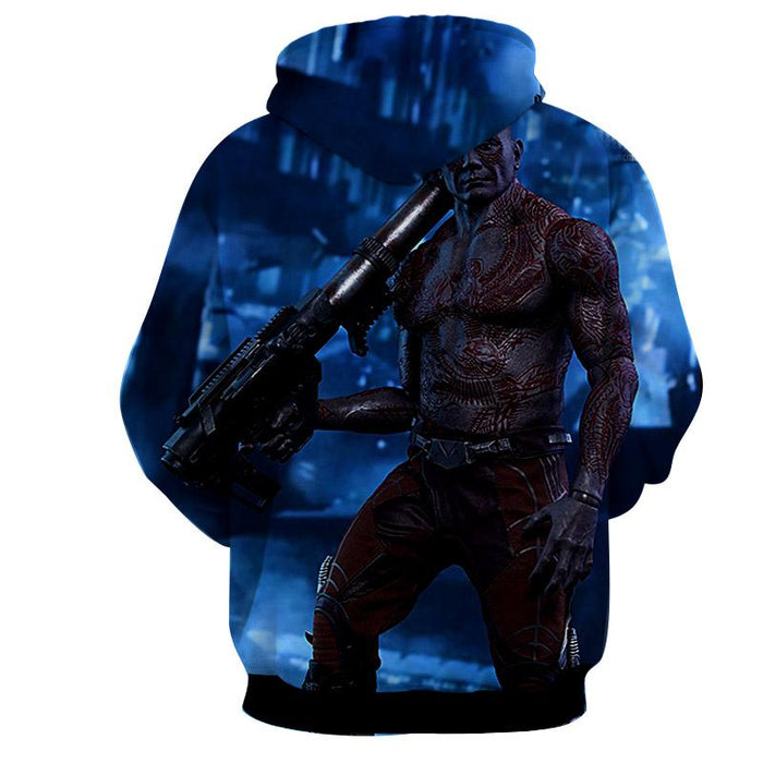 Guardians of the Galaxy Drax Portrait 3D Full Print Cool Hoodie - Superheroes Gears