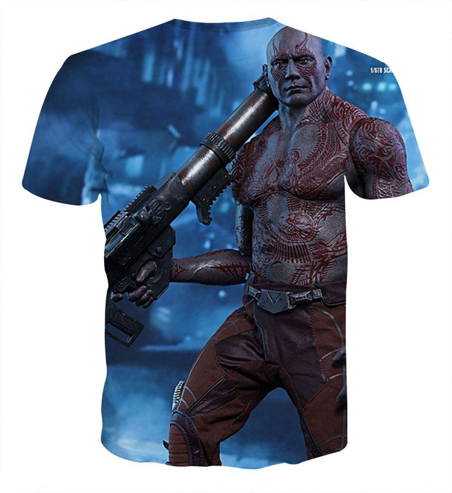 Guardians of the Galaxy Drax Portrait 3D Full Print Cool T-shirt - Superheroes Gears