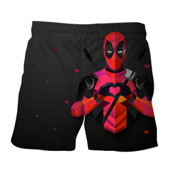 Hilarious Deadpool Love Icon Modern Design 3D Print Short