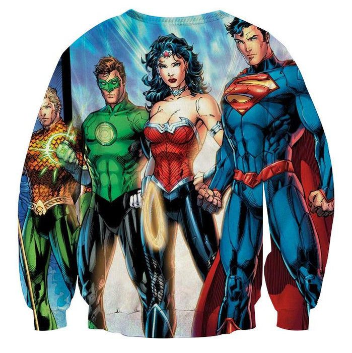 Justice League Heroes Dope Art Design 3D Printed Sweatshirt - Superheroes Gears