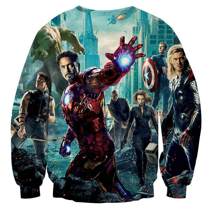 The Avengers Iron Man Black Widow Nick Fury Sweatshirt