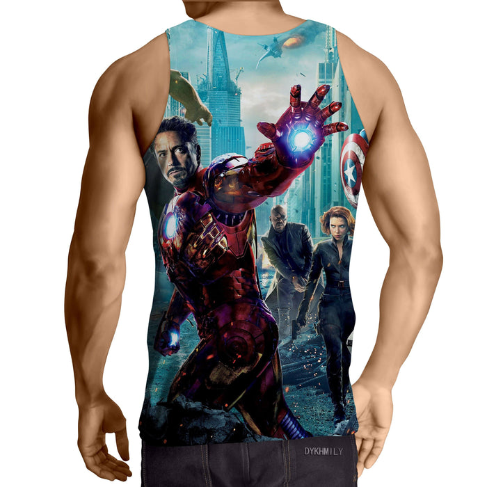 The Avengers Iron Man Black Widow Nick Fury Swag Tank Top