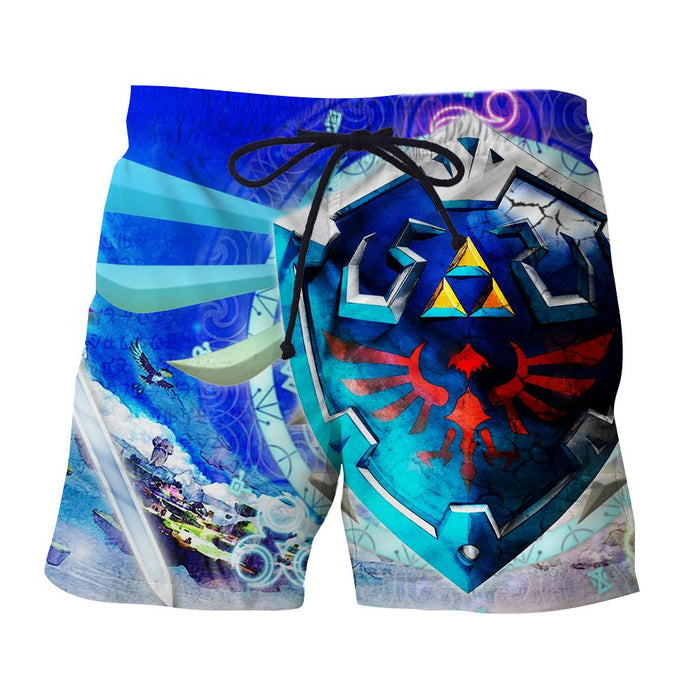The Legend Of Zelda Cool Skyward Sword Hylian Shield Shorts