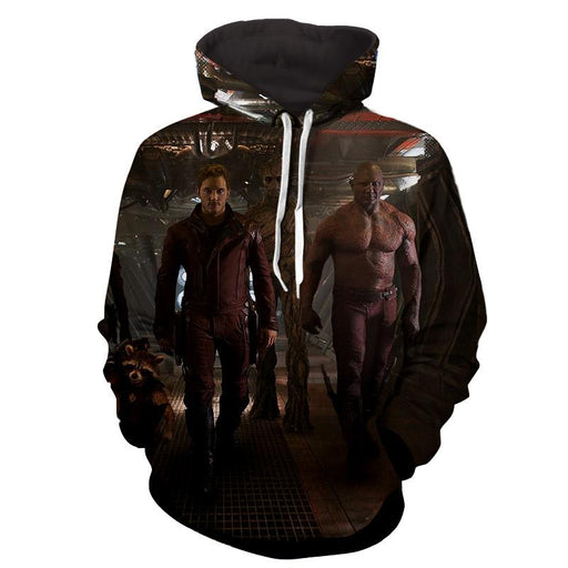 Guardians of the Galaxy Badass Team Up Cool Design Hoodie - Superheroes Gears