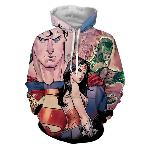 Justice League Superman Aquaman Dope Stare 3D Printed Hoodie - Superheroes Gears