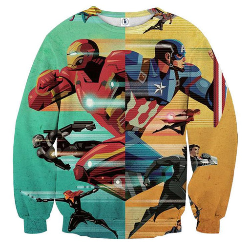 Marvel The Avengers Civil War Symmetric Pattern Sweatshirt