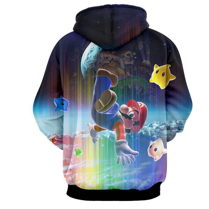 Super Mario Nintendo 3DS Rainbow Browser Villain Cool Hoodies