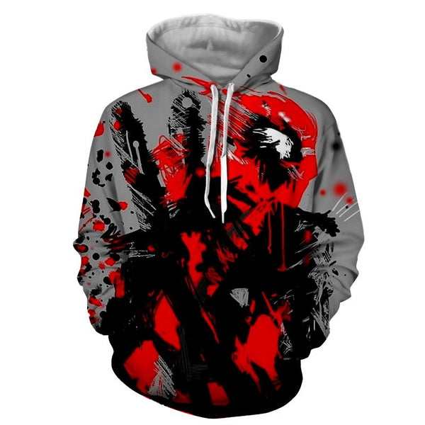 Deadpool Abstract Painting Design Stylish Winter Hoodie