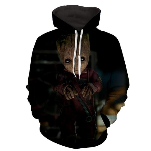 Guardians of the Galaxy Cute Baby Groot 3D Print Design Hoodie - Superheroes Gears