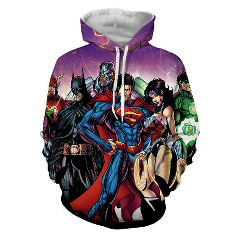 Justice League DC Comics Heroes Dope Team Cool Hoodie