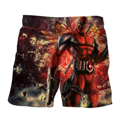 Muscle Deadpool Thumbs Up Cool Style Vibrant Design Short
