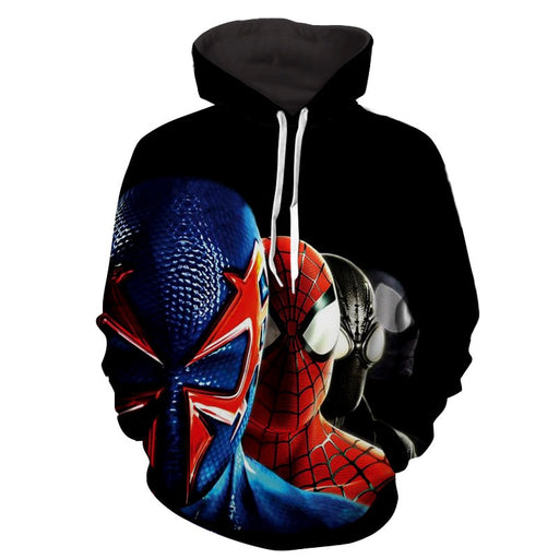 Spiderman Shattered Dimensions Swag Team Black Print Hoodie