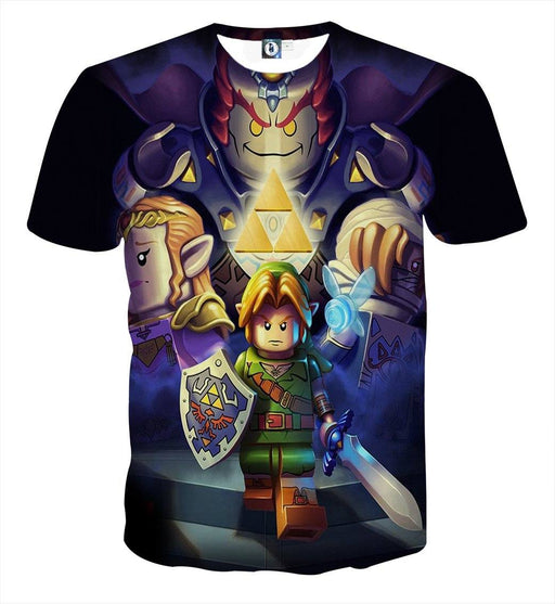 The Legend Of Zelda Link Princess Zelda Ganon Lego T-shirt