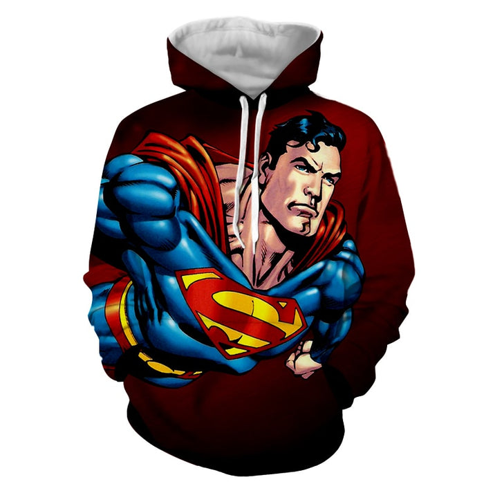 Action Comics Superman On The Way Design Full Print Hoodie