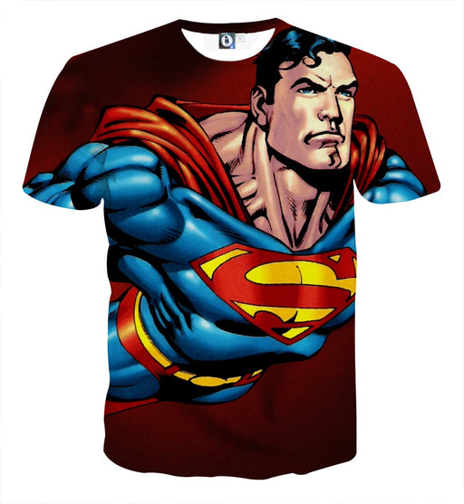 Action Comics Superman On The Way Design Full Print T-Shirt