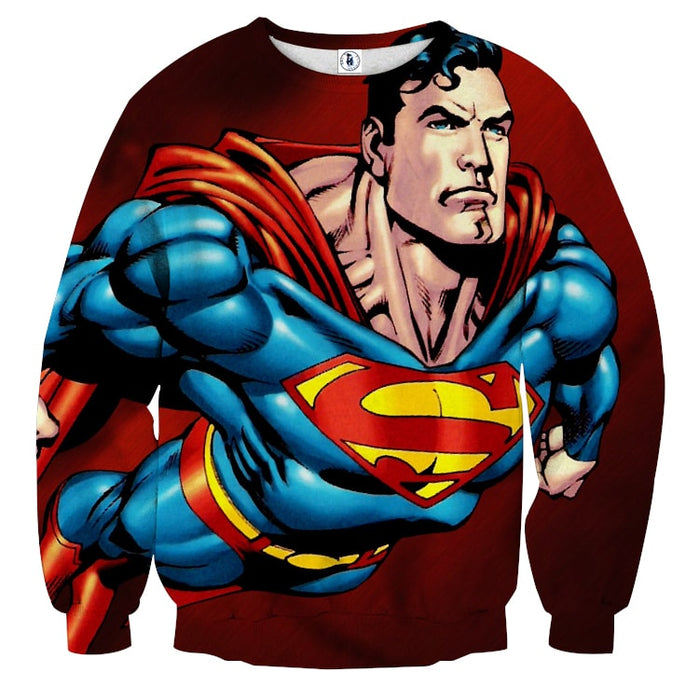 Action Comics Superman On The Way Design Print Sweatshirt